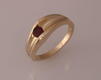 Hand Made Gold Gemstone Ring