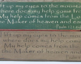 Psalm 121 Wooden Sign