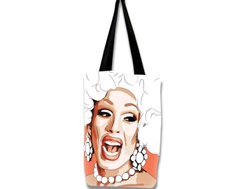 Alaska 5000, Large RuPaul's Drag Race tote bag with lining. Superstrong, handmade, and exclusive to ThatAgnes