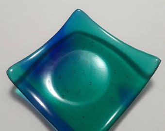 Fused Glass Square Sloped Dish