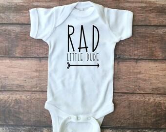 RAD Little Dude Bodysuit or Toddler Tee