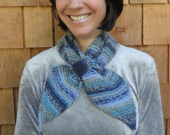 Knitting Pattern for Scarf with Loop, Scarflette or Neckwarmer, easy