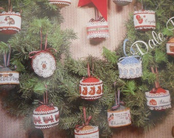 "Christmas Cross Stitch Ornaments Book - ""Calico Fancies"" by Dale Burdett"