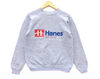 Vintage Hanes Sweatshirt / Hanes Made In Usa / Usa Shirt