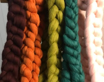 "Chunky Knit Scarf, Giant Knit, Merino Wool,  84"" (213cm) Length  3"" Stitch, Ready to ship"