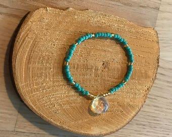 Handmade Bead and gem bracelet