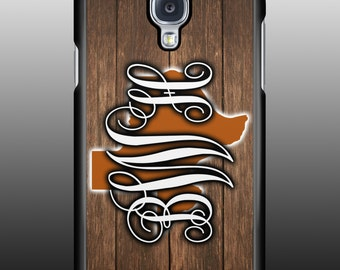 Personalized Texas state monogram Galaxy or IPhone cell phone case