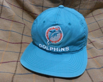 Free Shipping Vintage Miami Dolphin Cap Hat Miami Dolphin Football Vintage NFL Cap Hat