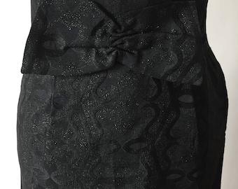 Vintage long brocade evening skirt