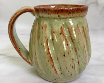 Handmade Ceramic Stoneware Coffee Cup - Wheel Thrown Pottery Mug