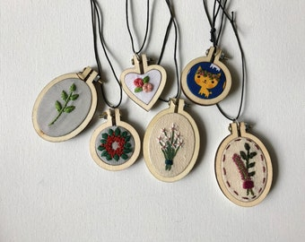 Custom Embroidered Necklace Pendant