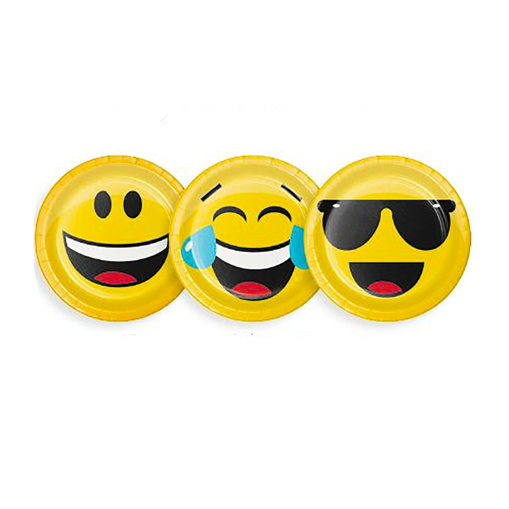 🔎zoom  sc 1 st  Etsy & Emoji Party Paper Plates Small Emoji Birthday Party Paper