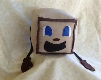"Tiny Box Tim Plushie! Plush Toy. 5"" cube, Pillow. Markiplier Youtuber."