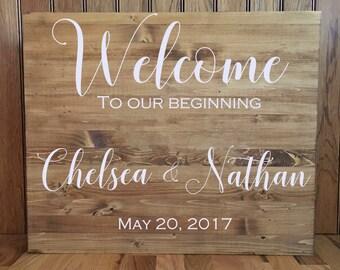 Wedding Welcome Sign//Wedding Sign//Wood Sign//Rustic Wedding//24x30