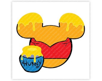 Disney, Winnie The Pooh, Icon Mickey Mouse, Minnie Mouse, Head, Mouse Ears, Digital, Download, TShirt, Cut File, SVG, Iron on, Transfer