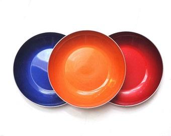 Trio of Norwegian Emalox Bowls - Soup Bowls