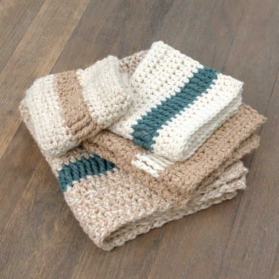 Crochet Dishcloth Pattern Crochet Washcloth Pattern DIY Stocking ...