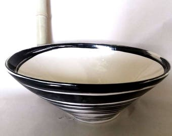 Washbasin Oval/White-black Ø 34/25 cm height 13 cm
