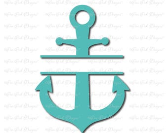 Split Anchor SVG file svg / dxf / png / jpg / pdf for Cameo, Cricut & other electronic cutters