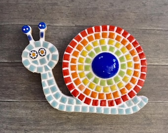 Fun Lily Mosaics D.I.Y. Mosaic Snail Kit for Adults and Children