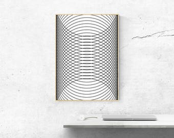 Scandinavian Opt Art Poster .02 - new collection!