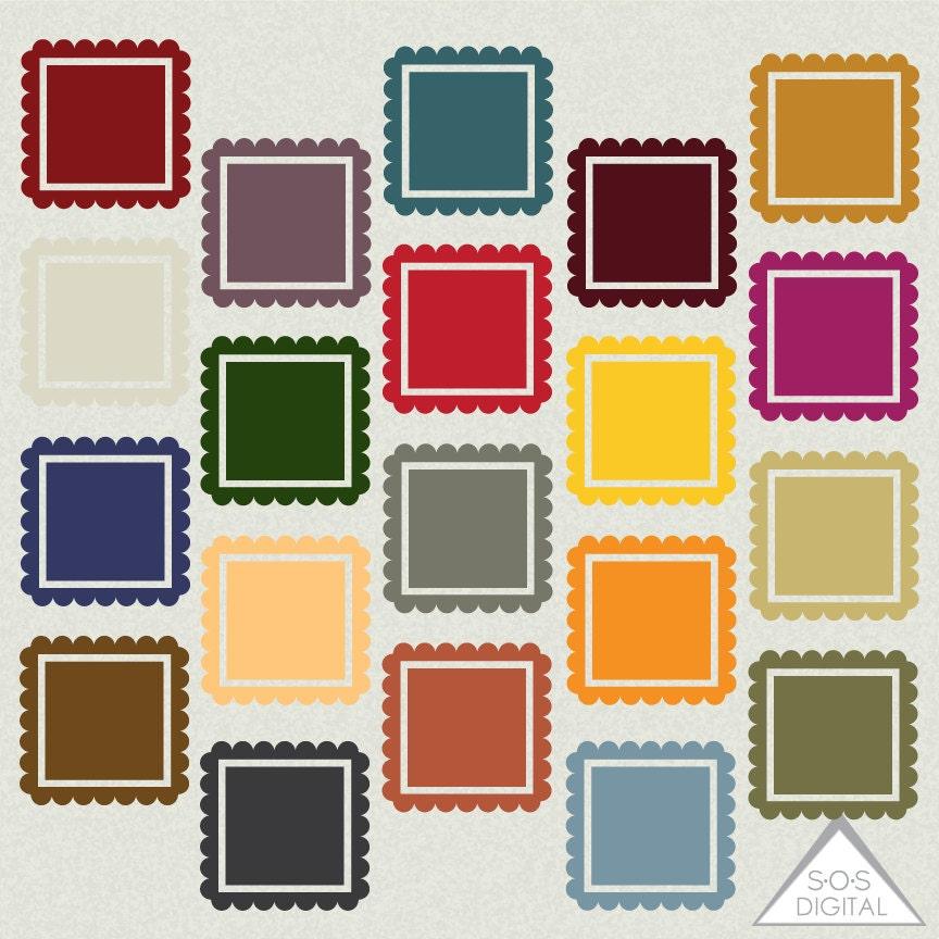 Earthtone Digital Frames Square Frame Clipart Frames Earth