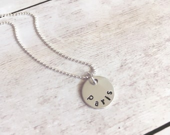 Custom Necklace, Name necklace, Coin necklace, Mother Necklace, kids names necklace, Mothers Necklace Hand Stamped, Childrens Names