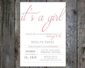 Baby Girl Shower Invitation - Item #029