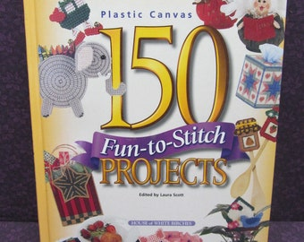 Plastic Canvas 150 Fun-to-Stitch Projects (1997, Hardcover) Plastic Canvas Pattern Book - House of White Birches