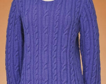 PDF Knitting Pattern Top-Down Cable Pullover #167