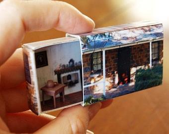 Matchbox Building: Matchbox Miniature of Blundell's Cottage, Canberra, Australia.