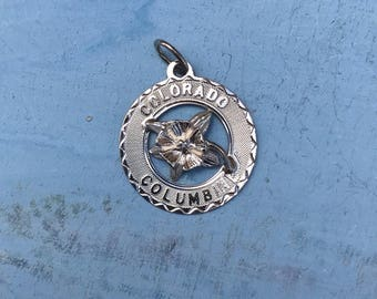 Colorado Columbine Sterling Silver Pendant Charm 2g
