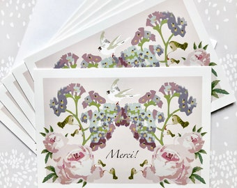 Note Cards Blank Six Pack Merci! Thank You!
