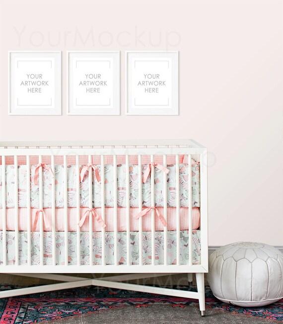 Nursery print Styled Frame Mockup Kids room print Baby girl