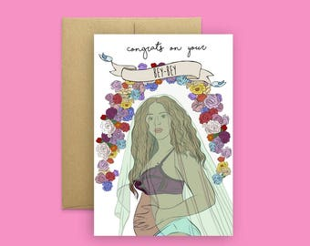Beyonce's Bey-Bey Card- Baby Shower, Bey Hive (Bey card, Greeting card, Funny Card, Pop Culture Card)