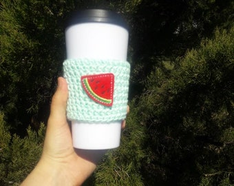 Gift for her under 10, To go cup cozy, travel mug cup cozy, reusable cup cozy, coffee cup cozy, coffee cup sleeve, bridesmaid gift, mom gift