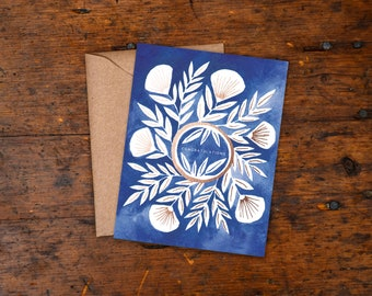 Single Foil Stamped Card