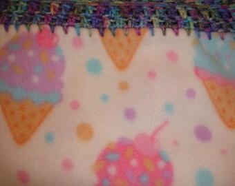 Ice Cream Cones Fleece Blanket