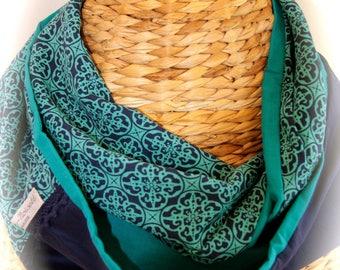 snood/scarf summer Navy Blue/teal