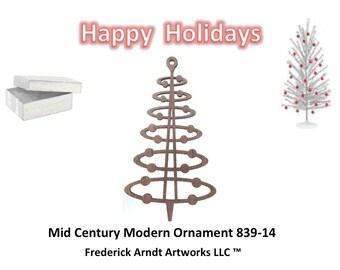 839-14 Mid Century Modern Ornament