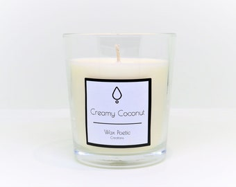 Creamy Coconut Scented Soy Wax Candle