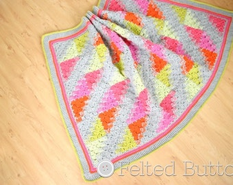 Blanket Crochet Pattern, Puzzle Patch, Baby Blanket, Afghan
