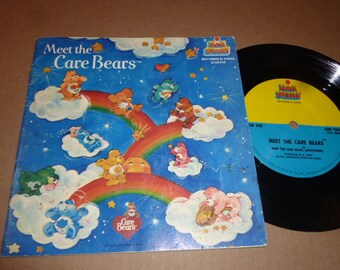 CARE BEARS Book and Record SET Kid Stuff 1983