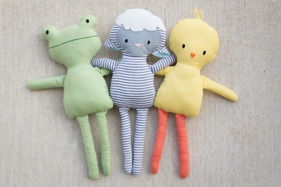 Mini Pals SPRING collection rag doll animal sewing pattern toy