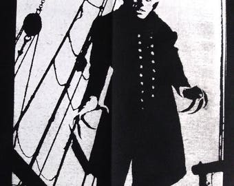 NOSFERATU 9x12 BACK PATCH screenshot screenprint classic horror halloween f.w. murnau 1922