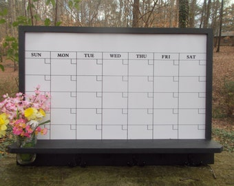 Large Dry Erase Calendar/ Message Board/Office Decor/Kitchen Decor/Family Organizational Board