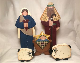 Tall Christmas Nativity Set