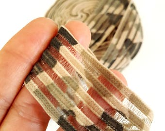 Vintage military style Ribbon detail in transparency 1 meter