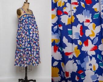 vintage 80s maternity dress | colorful sundress