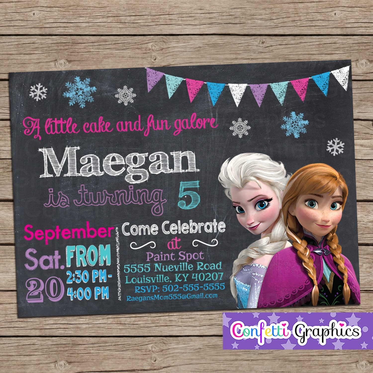 Frozen birthday invitation chalkboard chalk girls cute anna frozen birthday invitation chalkboard chalk girls cute anna elsa colorful custom printable personalized invite any age baby 1 2 3 4 5 6 7 filmwisefo Gallery